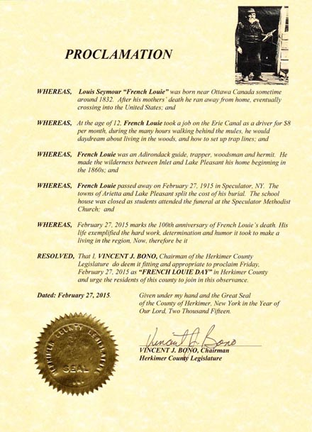 Proclamation of French Louie Day